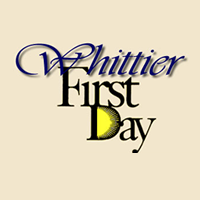 Whittier First Day Logo